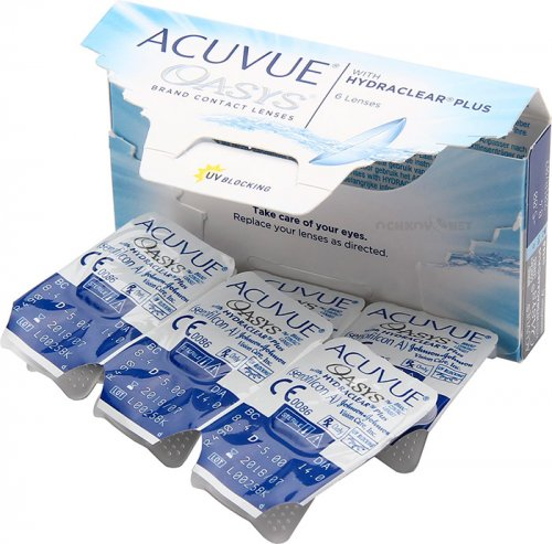 Контактные линзы Acuvue Oasys with Hydraclear Plus 1 шт.