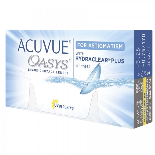 Контактные линзы ACUVUE OASYS FOR ASTIGMATISM WITH HYDRACLEAR PLUS (6 шт.)